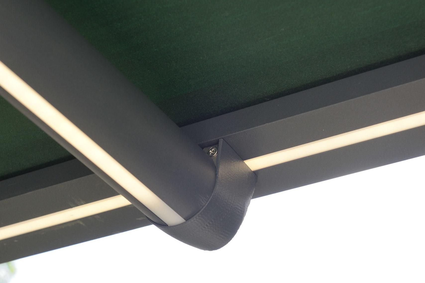 Pergolamarkise med integrerte lys