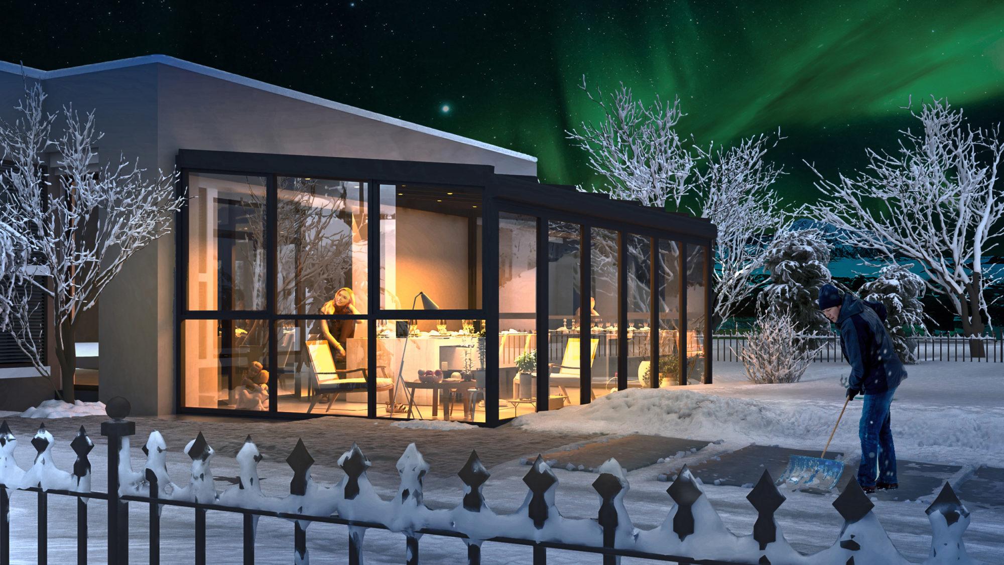 Nordic light vinterhage