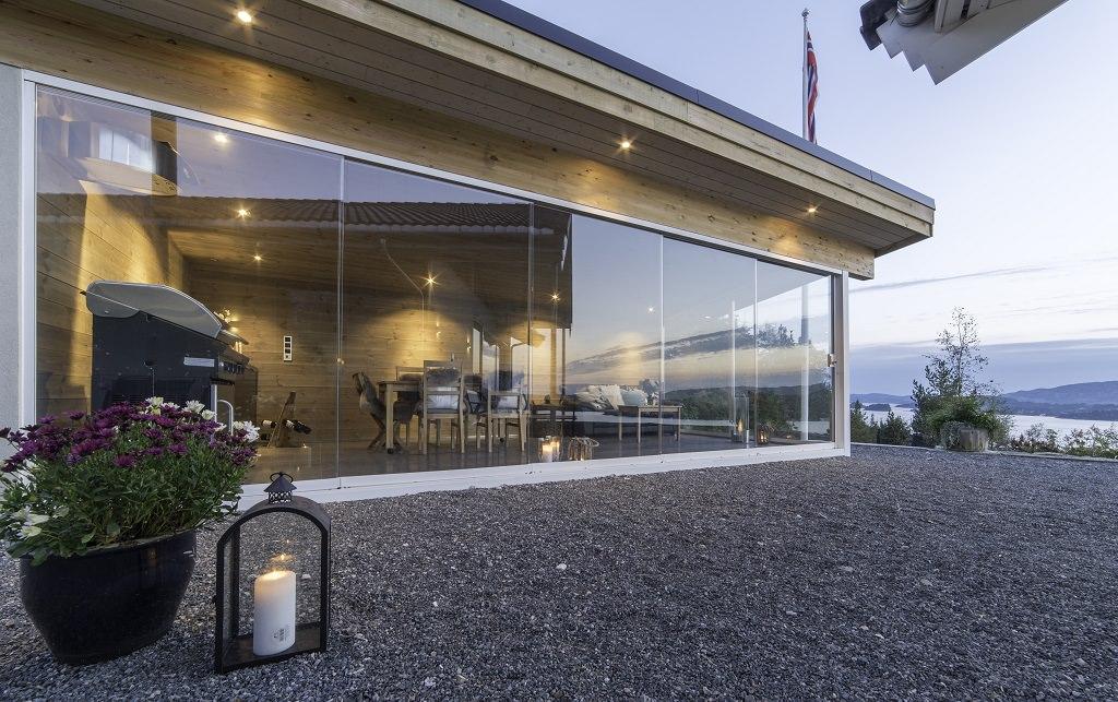 Skyvedør glass