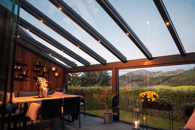 Glasstak med utsikt